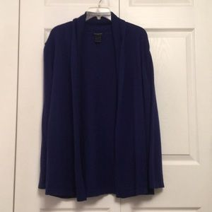 Ann Taylor Blue Open Front Cardigan Sweater